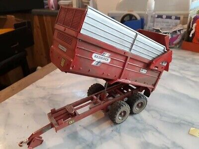 Rare Britains Conversion  Redrock Silage Trailer Dirty  For Tractor Siku  • 40£