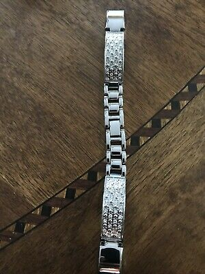AU19.14 • Buy Metal Wrist Band For Fitbit Alta / Fitbit Alta Hr Wristband Silver With Crystals