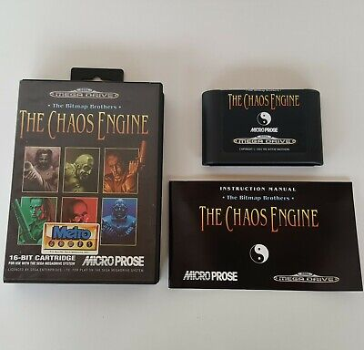 AU120 • Buy THE CHAOS ENGINE Sega Mega Drive Game Bitmap Brothers 1993 Boxed *Complete