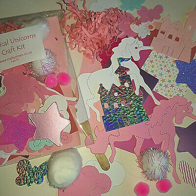 Magical Unicorns Craft Kit / Children / New / Cardmaking / Party • 1.25£