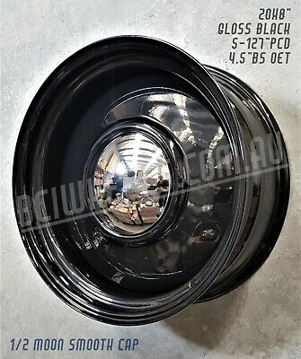 AU1299.99 • Buy 20  X 8  9  STEEL BLACK SMOOTHIE WHEELS FOR GMC CHEVY C10 TRUCK 5  BUICK