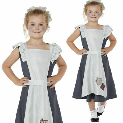 £14.99 • Buy Victorian Maid Costume Childrens World Book Day Fancy Dress Outfit Poor Maid