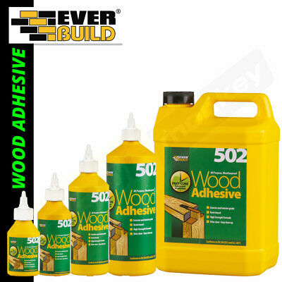Everbuild Wood Glue Adhesive - All Purpose Weatherproof PVA High Strength 502 • 7.95£