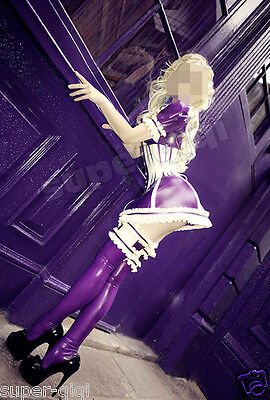 $189 • Buy 100% Latex Rubber 0.45mm Maid Dress Stockings Skirt Catsuit Suit Costume Fashion
