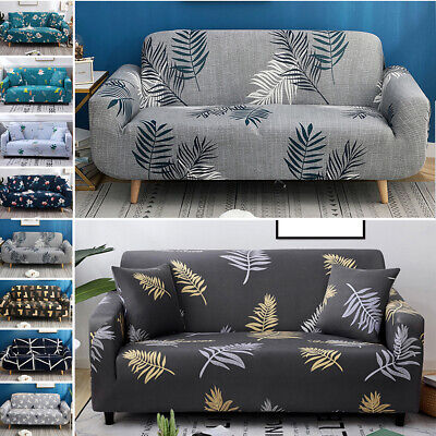 AU46.88 • Buy 1 2 3 4 Floral Elastic Sofa Cover Slipcover Stretch Couch Furniture Protector