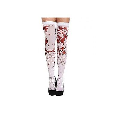 White Bloody Hold Up Stockings, Zombies, Horror, Halloween Fancy Dress 20434 • 4.95£