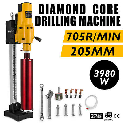 205mm Diamond Core Drill Wet & Vacuum Core Drilling Rig Stand & Drilling Bits • 179.97£