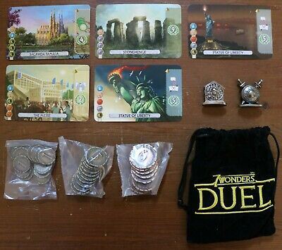 $ CDN11.33 • Buy 7 Wonders Duel Promo Mini Expansion Card Pack Repos Production Metal Coins New