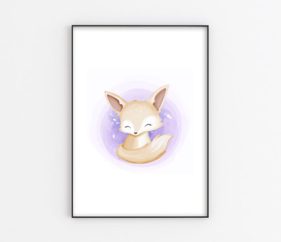 Cute Baby Fennec Fox Nursery Photo Art Print A4 Bedroom Childrens Wall Art • 6£
