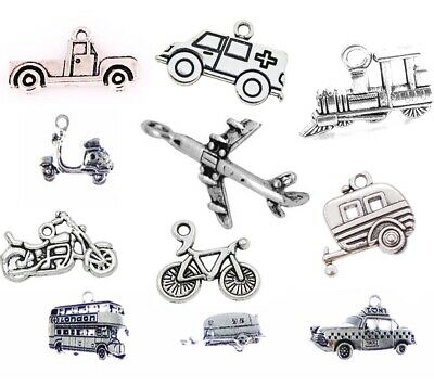 Vehicle Transport Tibetan Silver CHARMS Necklace Bracelet Jewellery Making CarUK • 2£