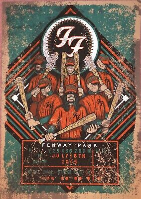 Reproduction  Foo Fighters - Fenway Park 2015 ,  Poster, Grunge, Home Wall Art • 13.50£