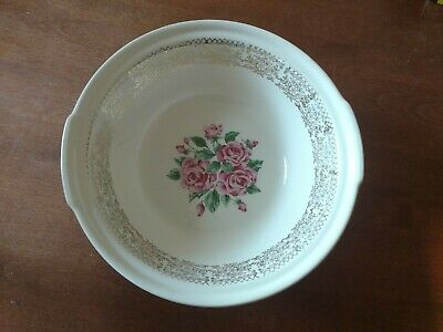 $14 • Buy Sebring Pottery Co. China Bouquette Serving Bowl 22K Gold Design With Roses