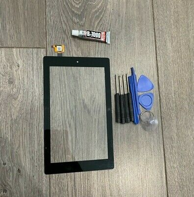 £13.99 • Buy Go For Amazon Kindle Fire 7th Gen Sr043kl Touch Screen Digitizer Replace + Glue