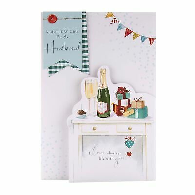 Birthday Card For Husband From Hallmark -  Classic 'Lucy Cromwell'  Illustrat... • 15.99£