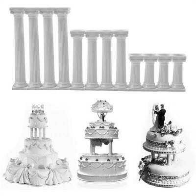 £3.40 • Buy 4pcs Grecian Pillars Wedding Cake Tier Separator Support Stand Decoration 6A