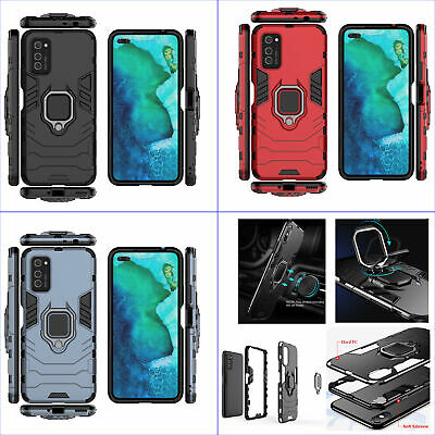 AU5.99 • Buy For Huawei Honor V30/V30 Pro, Shockproof Rugged Ring Grip Car Holder Case +glass