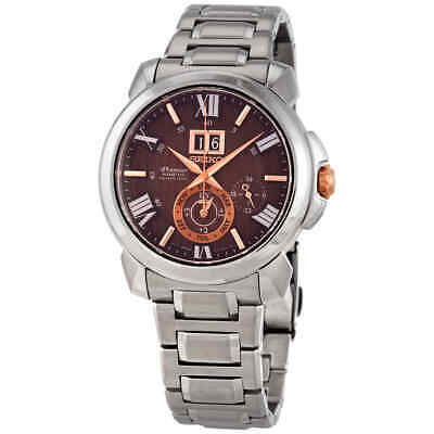 $ CDN637.99 • Buy Seiko Premier Perpetual Quartz Brown Dial Men's Watch SNP157