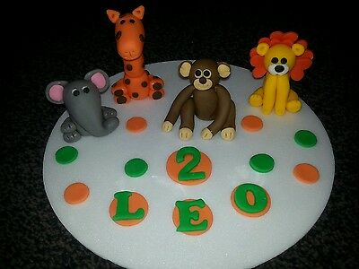 £22 • Buy Edible Handmade Zoo, Jungle Animals Cake Topper/decoration, 4 Included