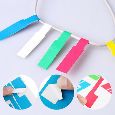 £3.32 • Buy 150Pcs Self Adhesive Cable Labels Wire Tags Stickers Identification Markers Acc