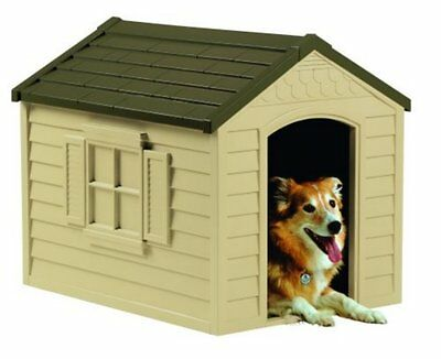 $109.89 • Buy Dog House Pet Large Kennel Outdoor Suncast DH250 Durable Resin Shelter Yard Door