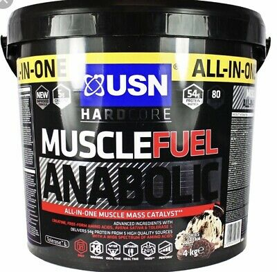 USN Muscle Fuel Anabolic, All In One Lean Muscle Gainer, 4kg - ALL 8 Flavours • 46.50£