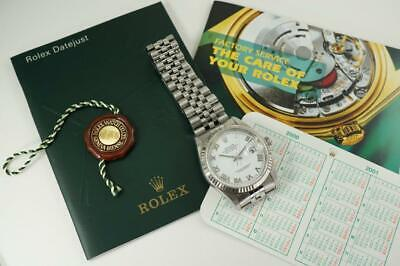 $ CDN6461.01 • Buy Rolex 16234 Datejust Jubilee Stainless Steel Fluted White Gold Bezel Dates 2000
