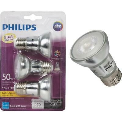 $18.23 • Buy Philips 50W Equivalent Bright White PAR16 Medium Dimmable LED Floodlight Light