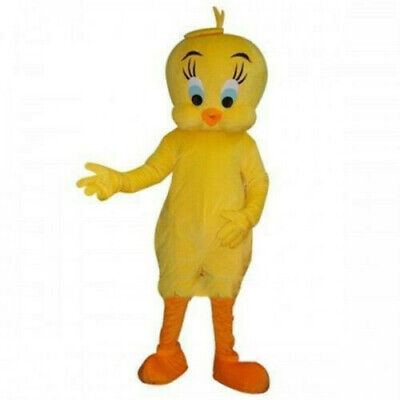 Tweety Yellow Bird Mascot Costume Chicken Cartoon  Fancy Party Cosplay Dress NEW • 80.72£