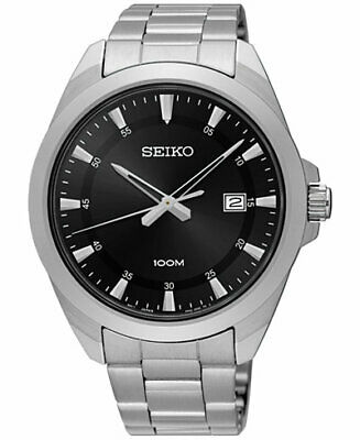 $ CDN125.99 • Buy Seiko Black Dial Stainless Steel Mens Watch SUR209