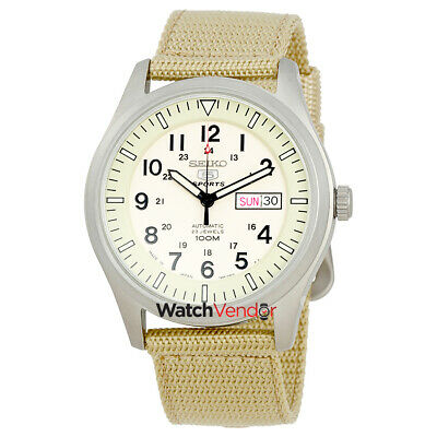 $ CDN216.99 • Buy Seiko 5  Automatic Beige Dial Mens Watch SNZG07J1