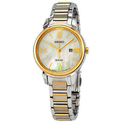 $ CDN257.99 • Buy Seiko Solar White Mother Of Pearl Dial Two-tone Ladies Watch SUT324