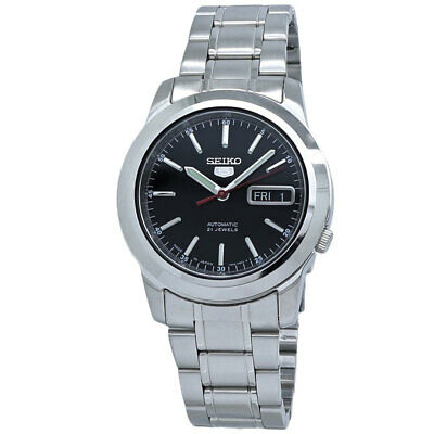 $ CDN160.99 • Buy Seiko 5 Automatic Black Dial Mens Watch SNKE53J1