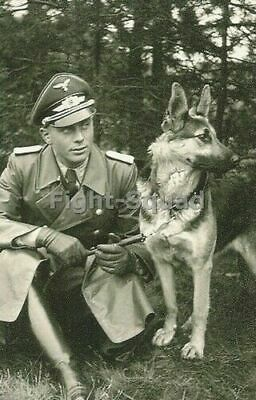£3.65 • Buy WW2 Picture Photo German Officer With His Dog 3310