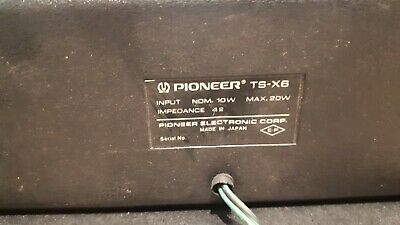 AU299 • Buy Vintage Pioneer TS-X6 20W Car Speakers - Black