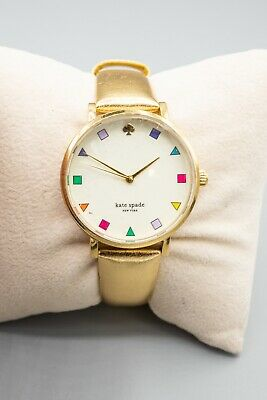 $ CDN76.55 • Buy Kate Spade Metro Women's Gold Tone Leather Strap Watch 0192 Light Use