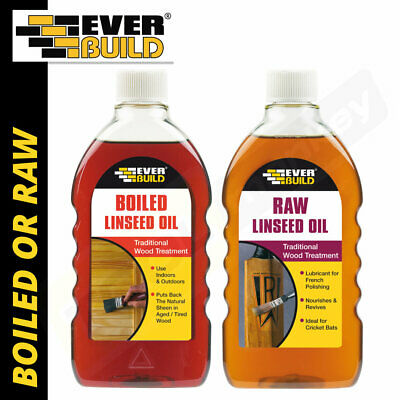 Everbuild Linseed Oil 500ml - Boiled Linseed Oil Or Raw Linseed Oil • 8.95£