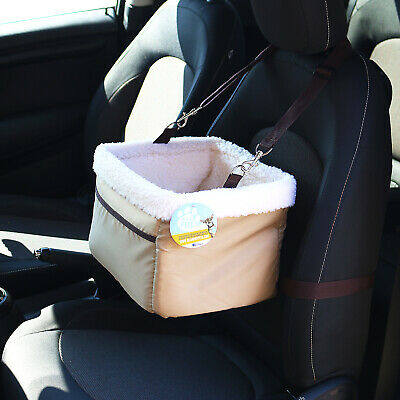 Me & My Pets Beige Car Booster Seat & Carrier For Dog/puppy/cat Travel/cage/safe • 14.99£