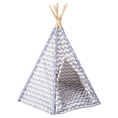 Me & My Pets Grey Teepee Bed Cat/Kitten/Dog/Puppy Igloo Play Tent Tipi House • 29.99£