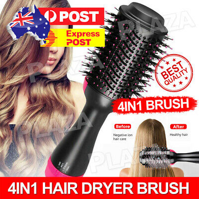 AU35.95 • Buy 4 In 1 Pro Salon One-Step Hair Dryer And Volumizer Oval Brush Straightener Comb