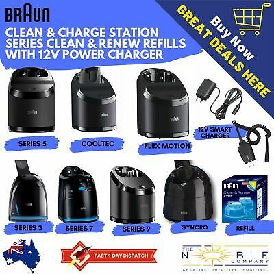 AU206.67 • Buy Braun Clean & Charge Charging Base Refill Cartridges Power Charger Clean & Renew