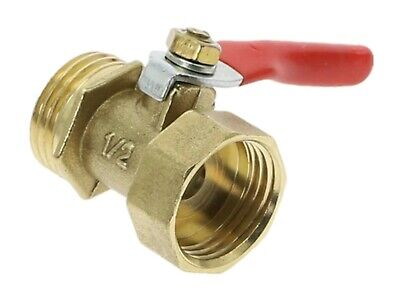 1/2  BSP Brass Ball Valve Male To Female Pipe Fitting With Red Lever Handle FM • 4.99£
