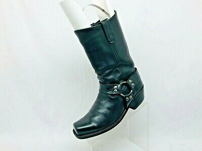 $75.99 • Buy VTG Nana Works Black Leather Harness Motorcycle Riding Boots Mens Size 8 D