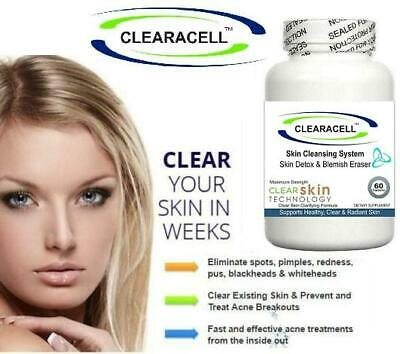 £19.95 • Buy Acne Pills Reduce Spots Scars Cleanser Detox Tablets Oxy Skin Oil Cleansing Aid