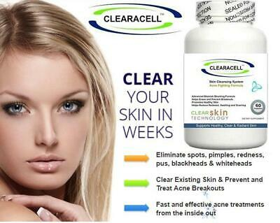 £29.95 • Buy 2 Acne Pills Reduce Spots Scars Cleanser Detox Tablet Oxy Skin Oil Cleansing Aid