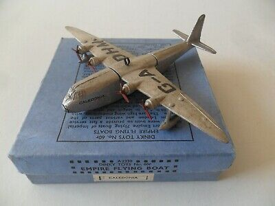 £130 • Buy Dinky Toys Aeroplane #60r Empire Flying Boat 'Caledonia' Aircraft With Box
