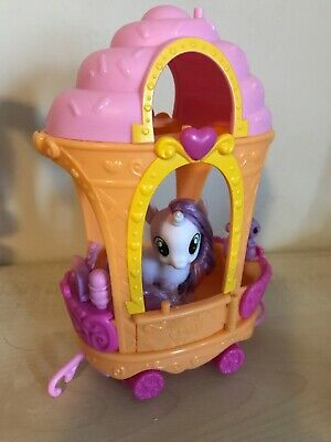 My Little Pony G4 Sweetie Belle & Ice Cream Train Car With Accessories • 15.99£