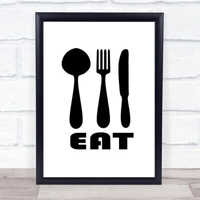£19.95 • Buy Eat Quote Print Poster Typography Word Art Picture