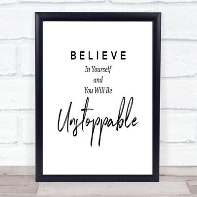 £7.29 • Buy Unstoppable Quote Print Poster Typography Word Art Picture