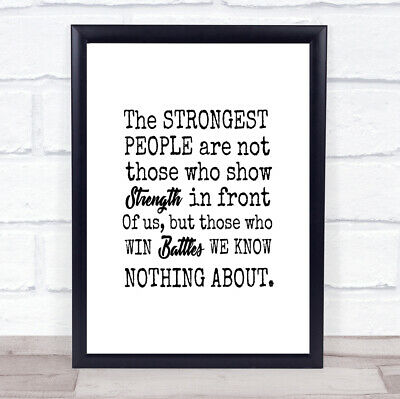 £7.29 • Buy Win Battles Quote Print Poster Typography Word Art Picture
