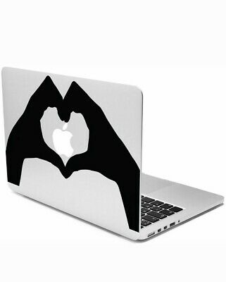 $6.97 • Buy Case It Heart Hands Decorative Eco-Friendly Silicone Decal Macbook Pro / Air 13